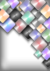 Abstract colorful buttons background