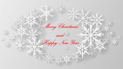 Christmas snowflake on paper