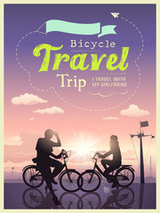 Bicycles travel trip I and my girlfriend, concept design