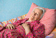 Senior sick woman