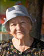 Portrait on smiling old woman