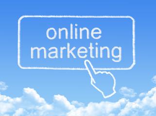 online marketing message cloud shape
