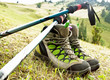 Hiking Boots with Trekking Poles - 69900358