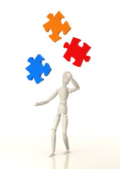 Mannequin Juggling Puzzle