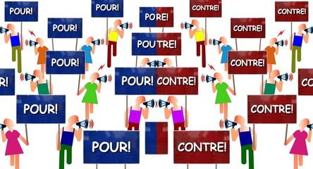 """Manifs """"Pour vs Contre"""""""