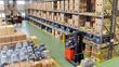 Leinwanddruck Bild - Warenlager in der Industrie // Industry Depot