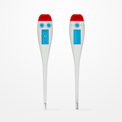 Vector illustration of electronic medical thermometers