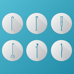 Flat vector icons for orthopedic equipment