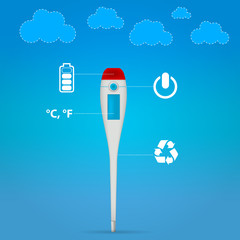 Illustration of electronic medical thermometer