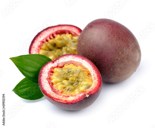 Fotobehang Vruchten Maracuya fruits on white background.