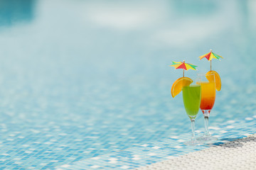 Cocktails by he pool