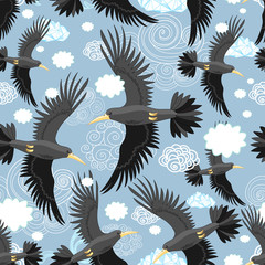 pattern of the black rooks