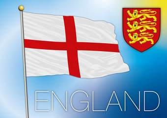 england flag and coat of arm