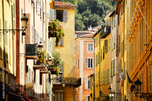 Tuinposter Nice Old town architecture of Nice on French Riviera