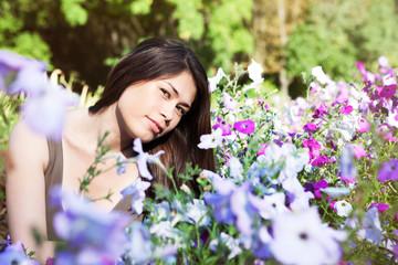 Beautiful Young Woman Outdoors.
