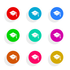 education flat vector icon set
