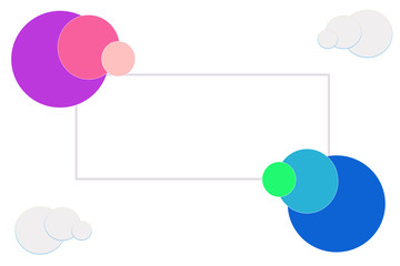 Design-Vorlage Rahmen Popart