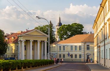 Buildings on Simono Daukanto square in Vilnius, Lithuania
