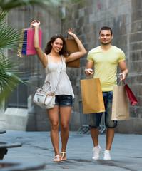 travelers doing shopping