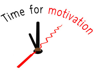 Time for Motivation with clock concept