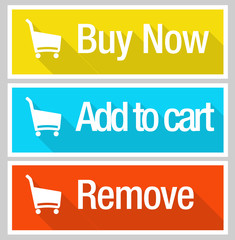 Online shopping e commerce icon set