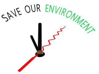 Save our Environment with clock concept