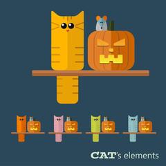 Vector cats elements