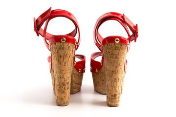 Rote Plateau High Heels