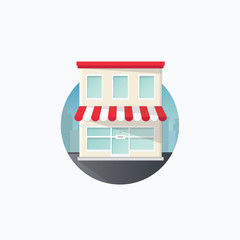 Vector icon in flat style - shop