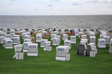 sedie a sdraio a Helgoland isola della germania