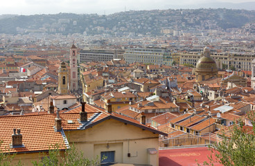 Above View of Nice, France