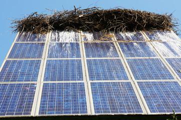 verdreckte Photovoltaikanlage
