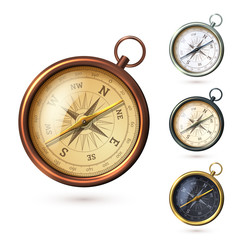 Antique compass set