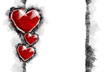 Heart pancil 34