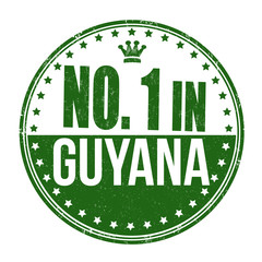 Number one in Guyana stamp