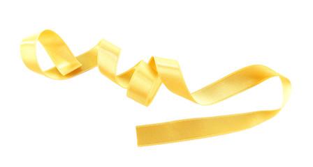 Golden ribbon isolated on white