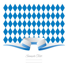 Abstract background New Bavarian flag ribbon