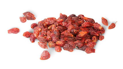 Pile Of Dry Rosehip Fruit
