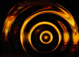 twirl of bright explosion flash on black backgrounds