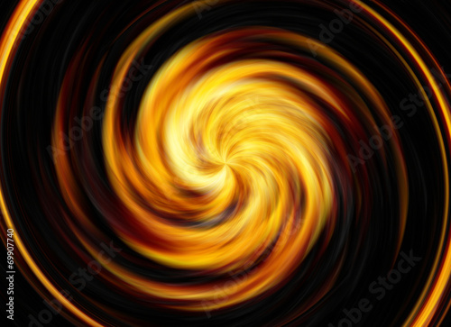 twirl motion of bright explosion flash on black backgrounds