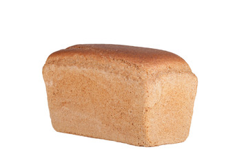 black bread isolated on a white background
