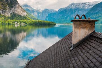 Above the roofs of Hallstatt