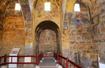 Fresco at Quseir (Qasr) Amra desert castle near Amman, Jordan