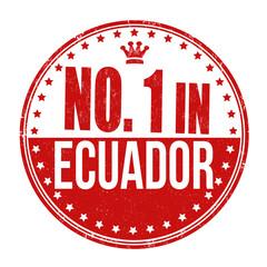 Number one in Ecuador stamp