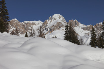 panorama of the Alpes in the dolomites