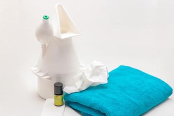 Stillleben mit Inhalationsgerät