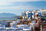 Fotoroleta Panoramic view of little Venice on Mykonos Island, Greece