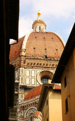 Dome of Cathedral of Santa Maria del Fiore (Duomo). Florence