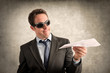 Business man with paper plane