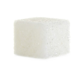Cube of sugar isolated on white background